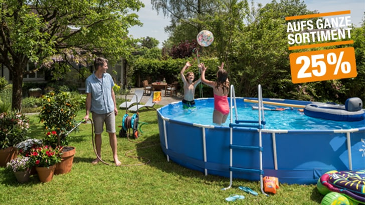 25% auf ausgewählte Pools