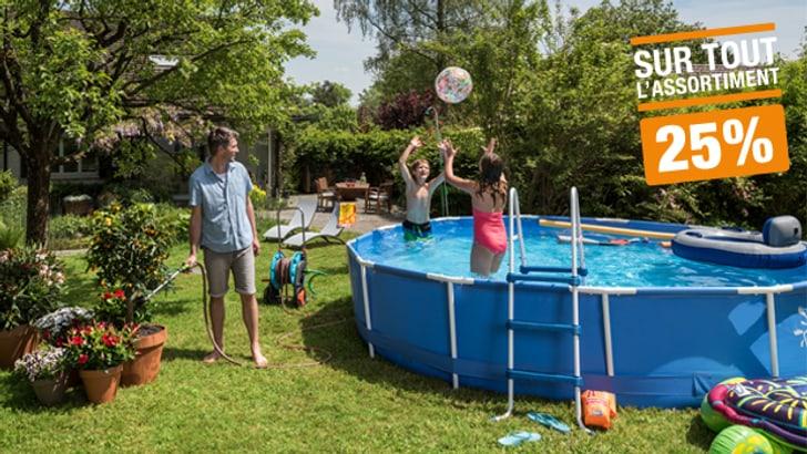 25% sur une sélection de piscines